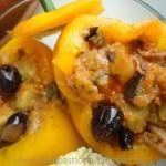 Peperoni ripieni di ciuffi di moscardini