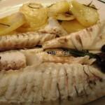 Orata al forno con patate e olive