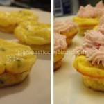 CupFrittatine con topping di Mousse al Prosciutto Cotto