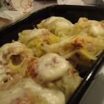 Involtini di verza al forno ripieni di manzo e pancetta arrotolata