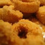 Anelli di Calamaro impanati e gratinati al forno