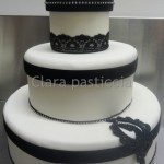 Black & White Marriage – Cake Design