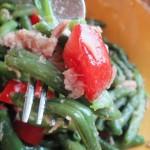 Fagiolini in insalata di tonno e datterini