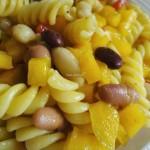 Pasta in insalata di Peperoni e Legumi al Curry