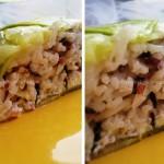 Zucchinotto: lo zuccotto salato di zucchine e riso