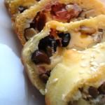 Strudel salato di Funghi, Speck e formaggio filante