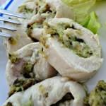 Girelline di pollo con cremoso pesto fresco