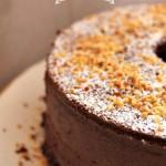 Chiffon Cake alle nocciole e cacao senza glutine