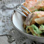 Pennette integrali con crema di broccoli e salmone fresco