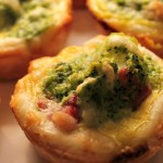 Mini quiche con broccoli e pancetta