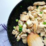 Bocconcini di pollo con cipollotti e zenzero