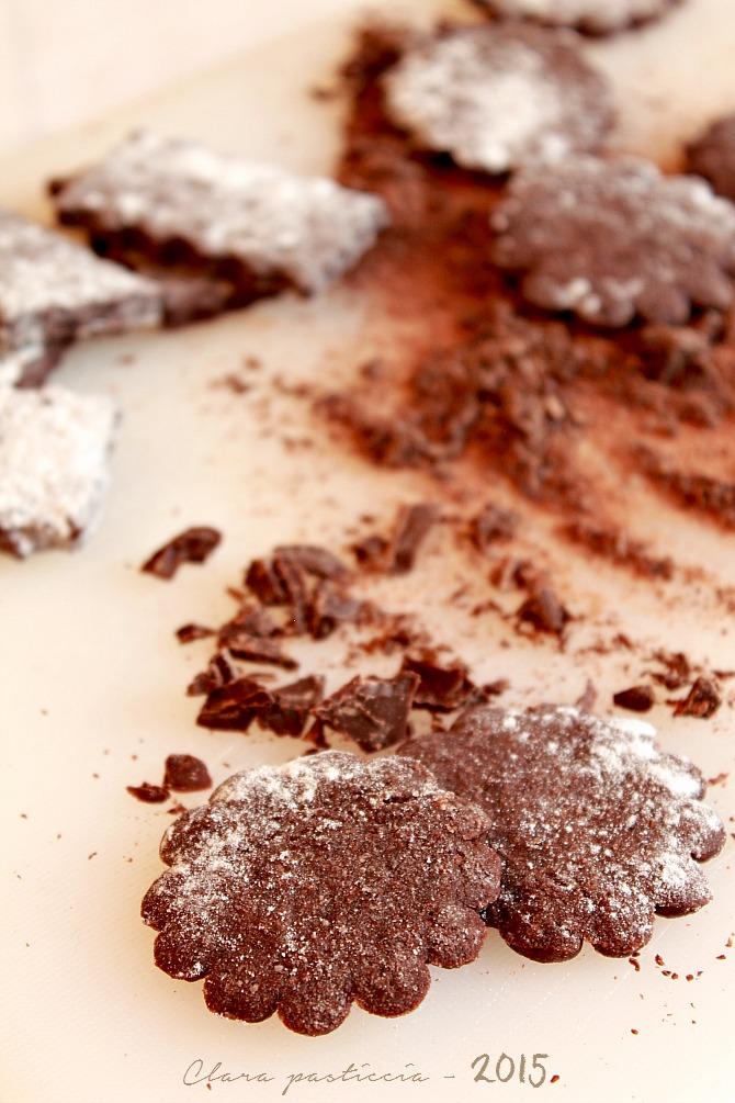 Frollini al cacao e fleur de sel