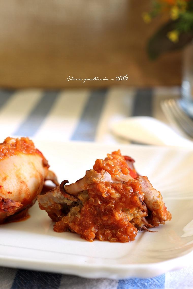 Totani in umido ripieni di quinoa