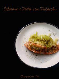 Salmone e Porri con Pistacchi